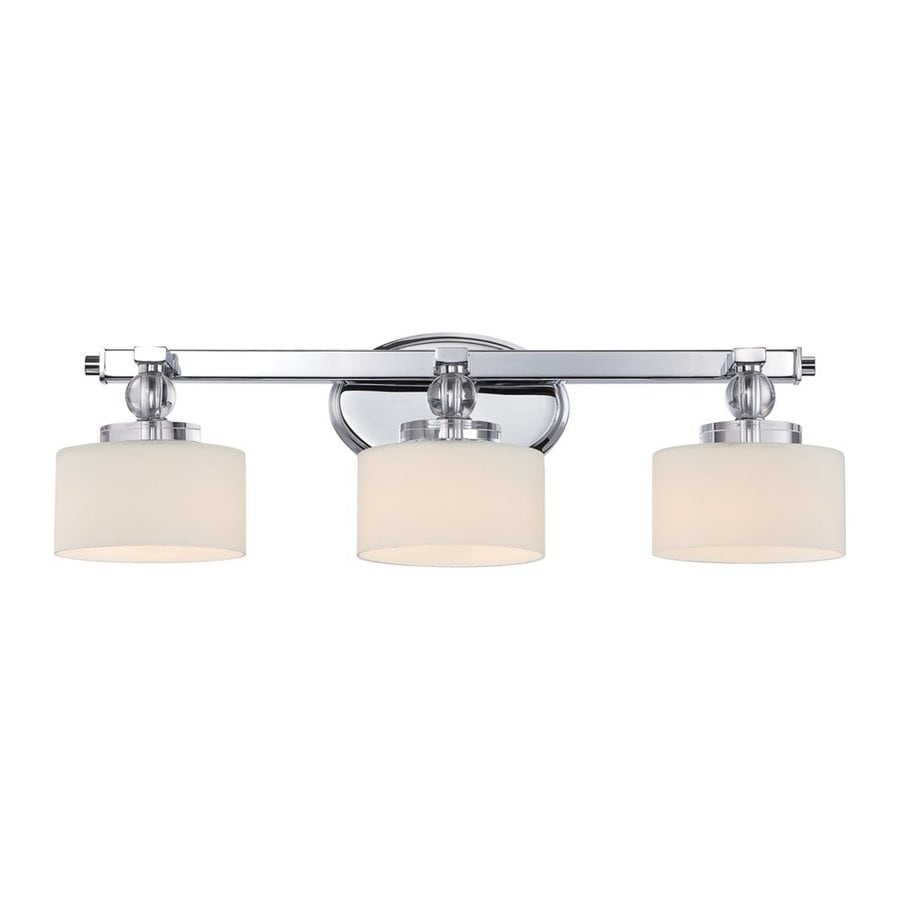 Quoizel Downtown 3-Light 7.25-in Polished Chrome Cylinder Vanity Light