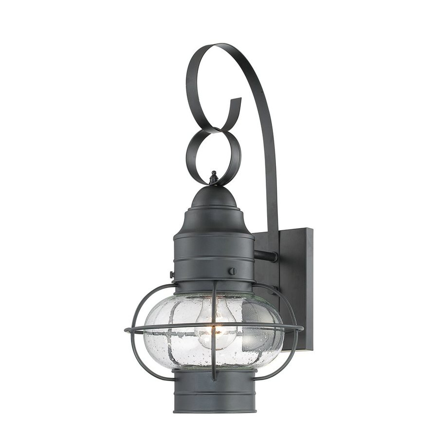 Quoizel Cooper 21-in H Mystic Black Outdoor Wall Light