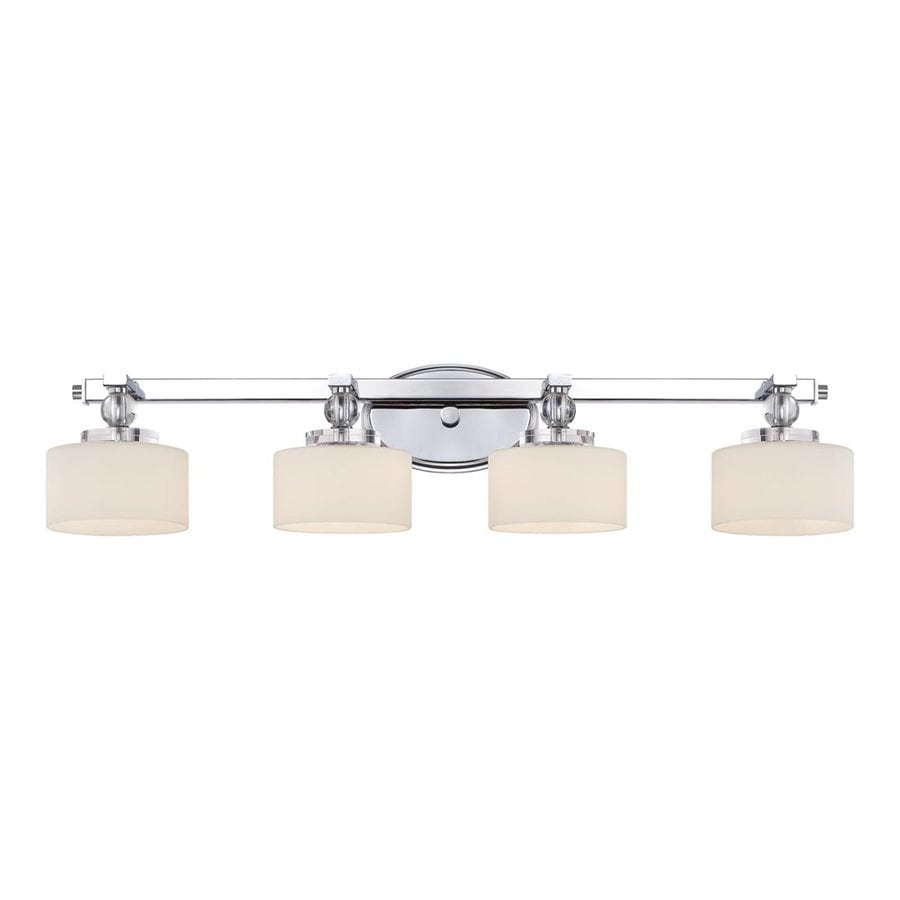 Quoizel Downtown 4-Light 7.25-in Polished chrome Cylinder Vanity Light