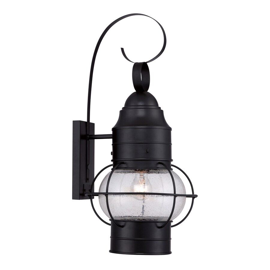 Quoizel Cooper 25-in H Mystic Black Outdoor Wall Light