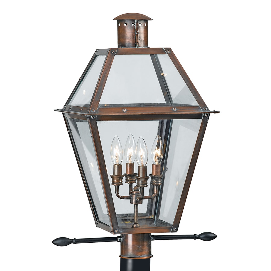 Shop quoizel rue de royal 26 in h aged copper post light at lowes quoizel rue de royal 26 in h aged copper post light aloadofball Image collections