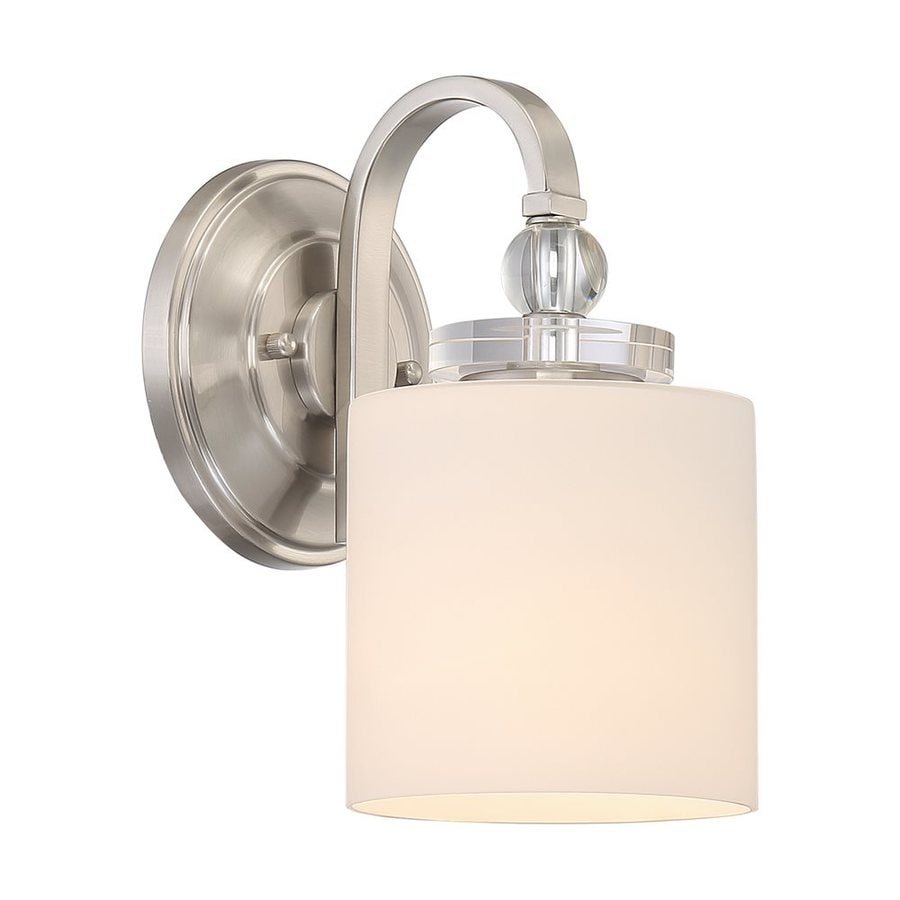 Quoizel Downtown 1-Light 10.25-in Brushed Nickel Cylinder Vanity Light