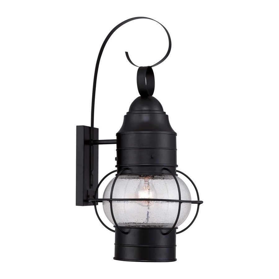 Quoizel Cooper 24.5-in H Mystic Black Outdoor Wall Light