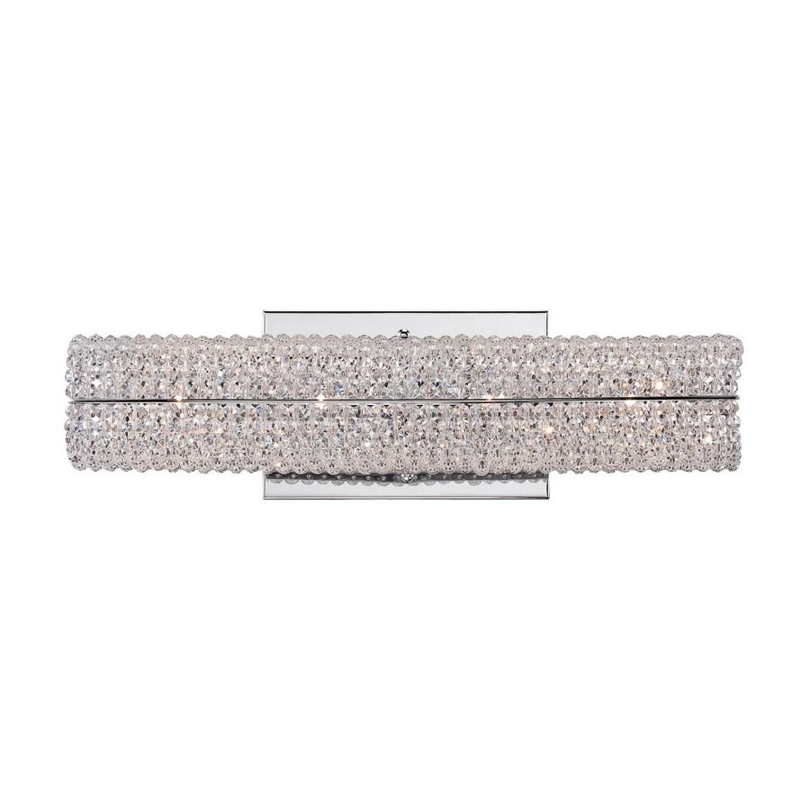 Quoizel Evermore 1-Light 5-in Polished chrome Rectangle Vanity Light Bar