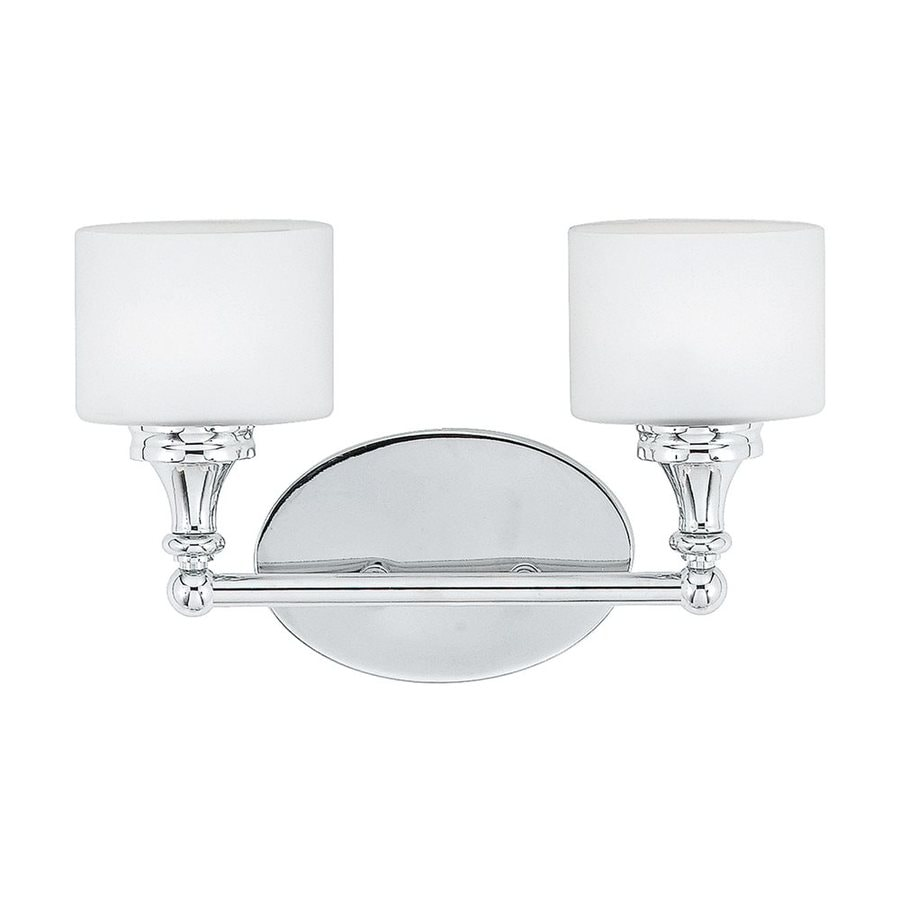 Quoizel Quinton 2-Light 8.25-in Polished Chrome Cylinder Vanity Light