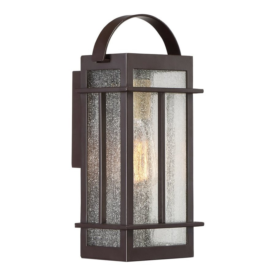 Quoizel Crestview 12.5-in H Western Bronze Outdoor Wall Light