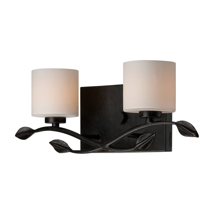 Quoizel Erin 2-Light 6-in Bronze Cylinder Vanity Light