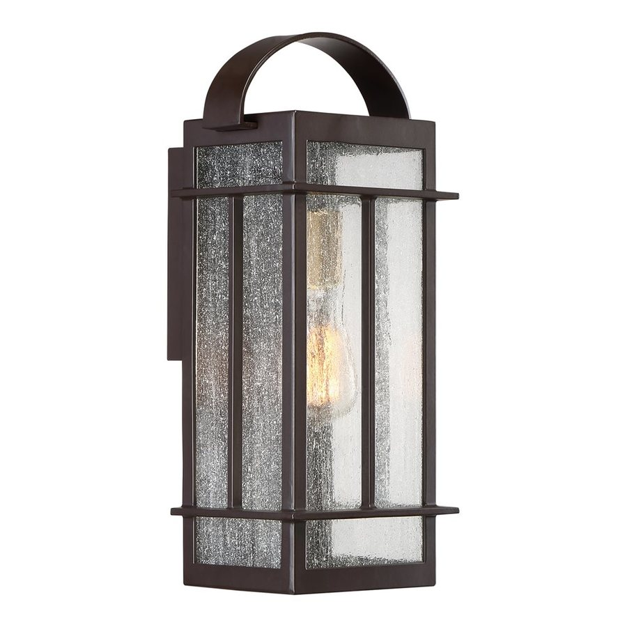 Wall Lantern Lowes : Shop Quoizel Crestview 15.5-in H Western Bronze Outdoor Wall Light at Lowes.com