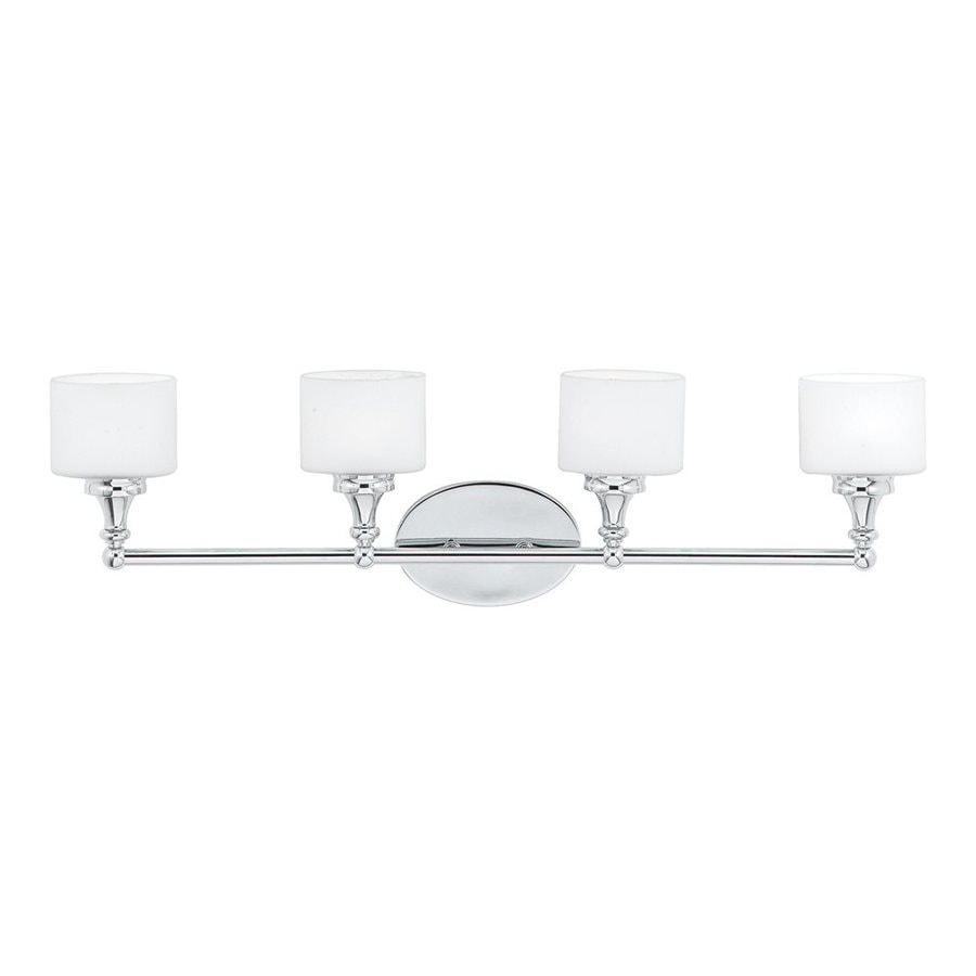 Quoizel Quinton 4-Light 8.25-in Polished Chrome Cylinder Vanity Light