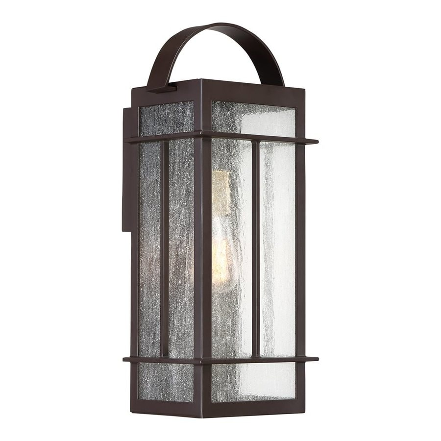 Quoizel Crestview 18.5-in H Western Bronze Outdoor Wall Light
