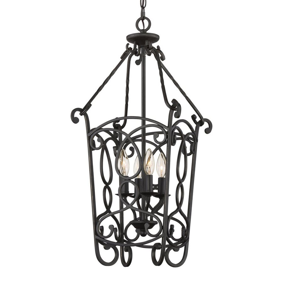 Quoizel Estate 13.5-in Imperial Bronze Vintage Single Cage Pendant