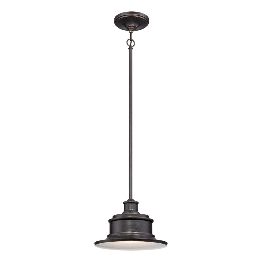 Quoizel Seaford 8-in Imperial Bronze Outdoor Pendant Light