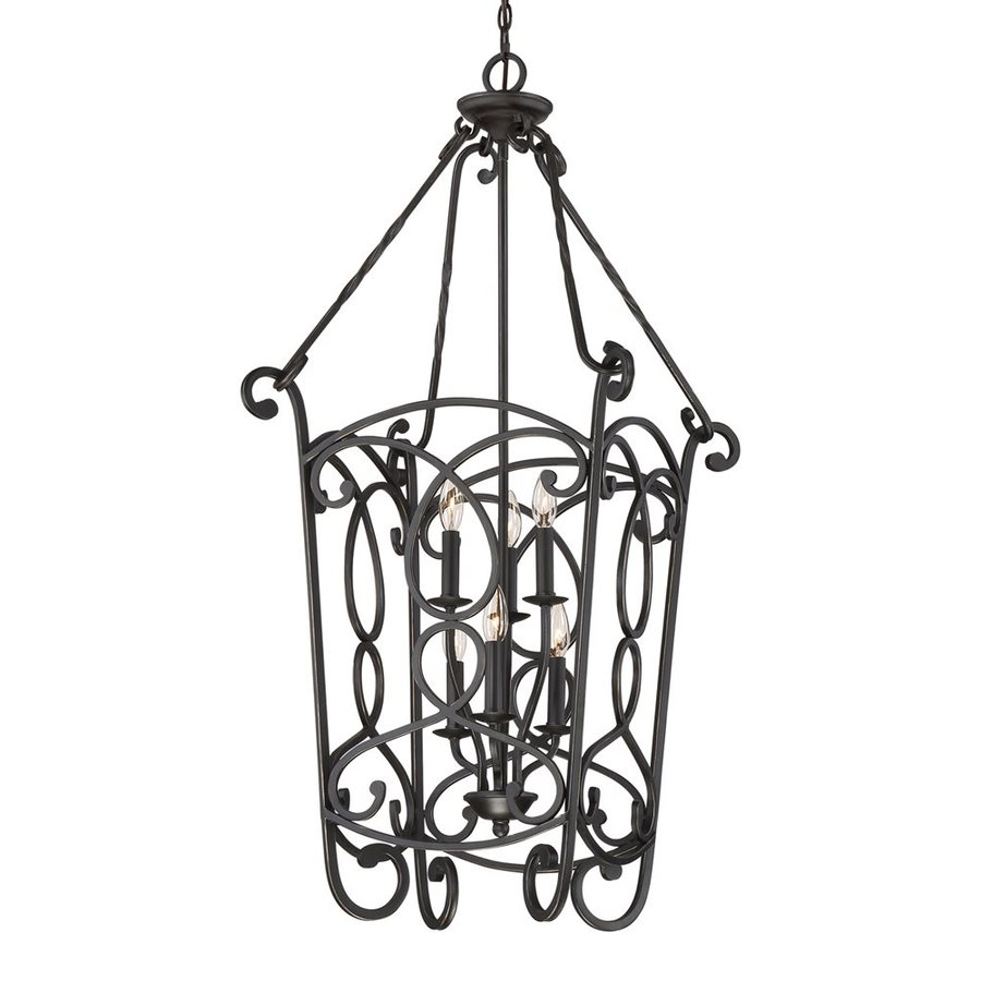 Quoizel Estate 19.5-in Imperial Bronze Vintage Single Cage Pendant