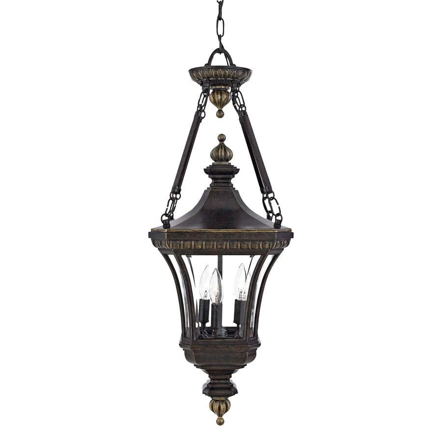 Quoizel Devon 31-in Imperial Bronze Outdoor Pendant Light