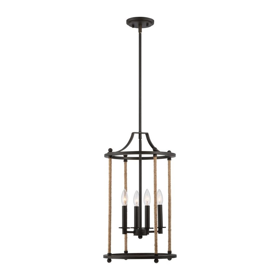 Quoizel Frontier 13-in Imperial Bronze Single Cage Pendant
