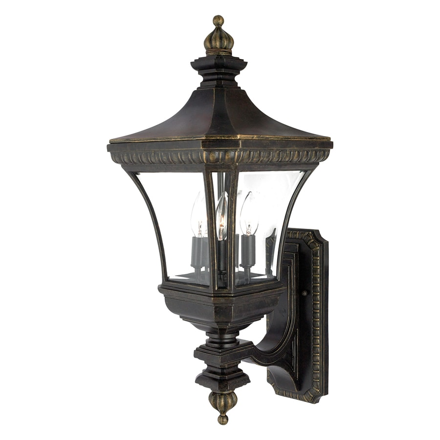 Quoizel Devon 26-in H Imperial Bronze Candelabra Base (E-12) Outdoor Wall Light