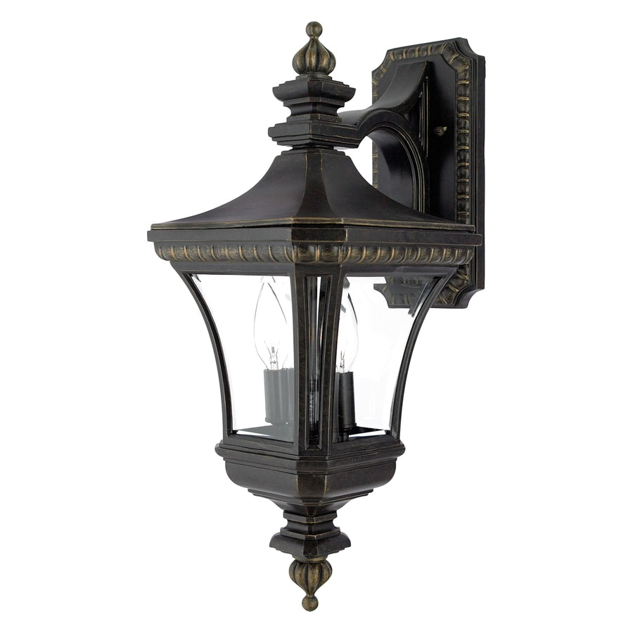 Shop Quoizel Devon 21-in H Imperial Bronze Outdoor Wall Light at Lowes.com