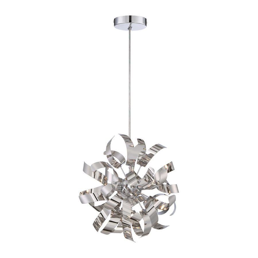 Quoizel Ribbons 12-in Polished Chrome Single Orb Pendant
