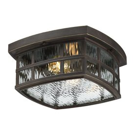 Shop outdoor flush mount lights at lowes quoizel stonington 12 in w palladian bronze outdoor flush mount light workwithnaturefo