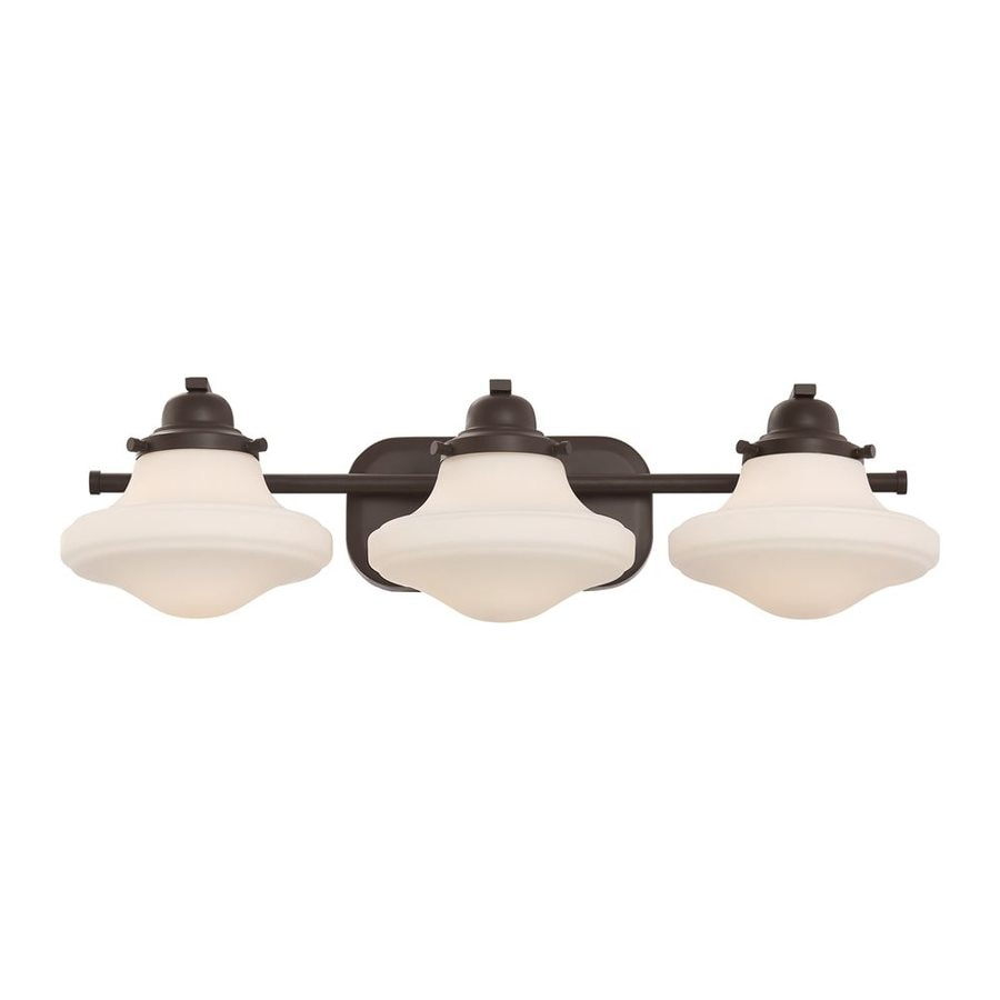 Quoizel Garrison 3-Light 6.75-in Bronze Schoolhouse Vanity Light