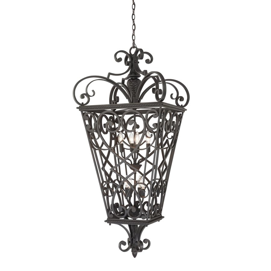 Quoizel Fort Quinn 52-in Marcado Black Outdoor Pendant Light
