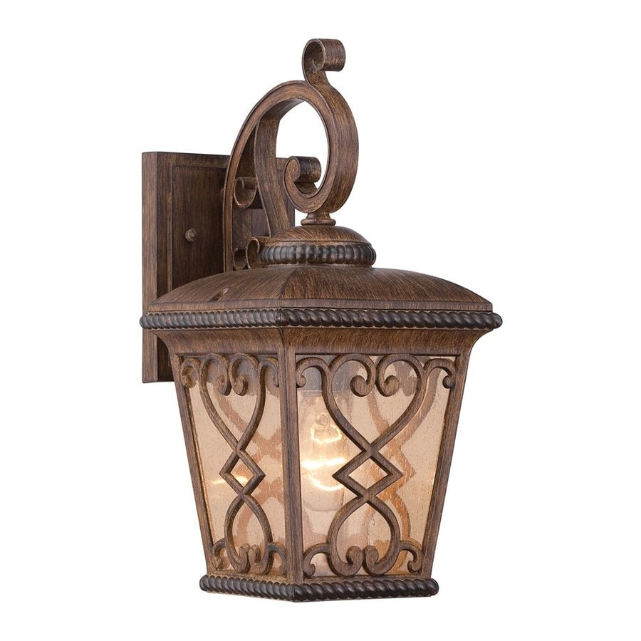 Quoizel Fort Quinn 15-in H Antique Brown Outdoor Wall Light