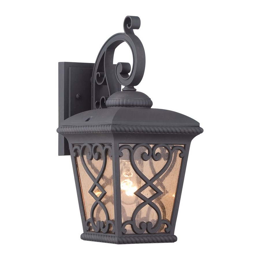 Quoizel Fort Quinn 15-in H Marcado Black Outdoor Wall Light