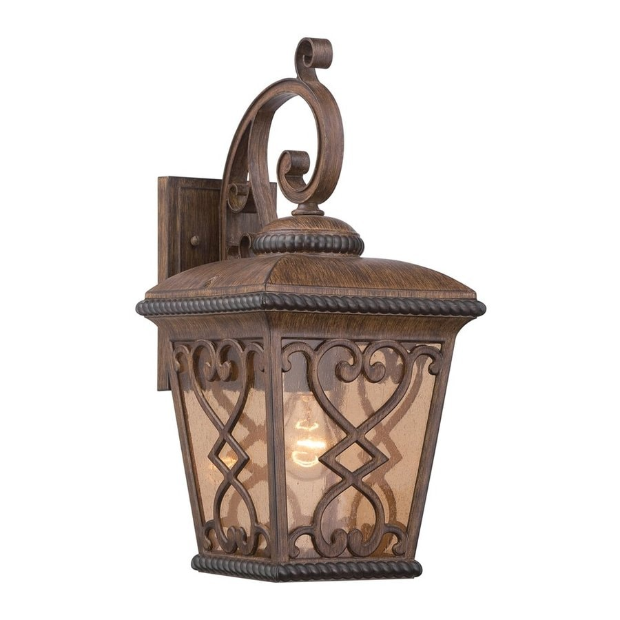 Quoizel Fort Quinn 19-in H Antique Brown Outdoor Wall Light