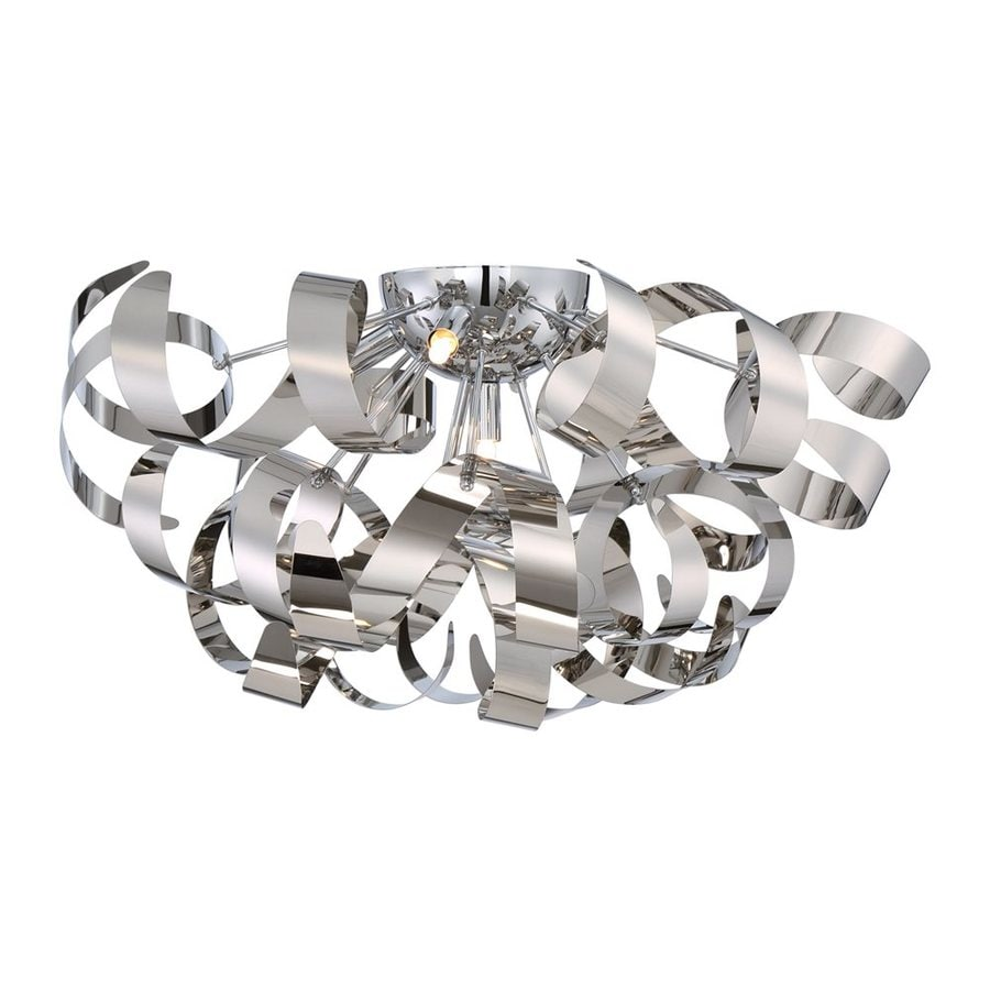 Quoizel Ribbons 22-in W Polished Chrome Flush Mount Light