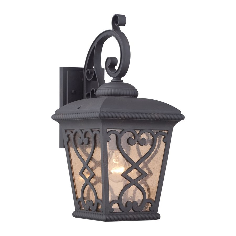 Quoizel Fort Quinn 19-in H Marcado Black Outdoor Wall Light