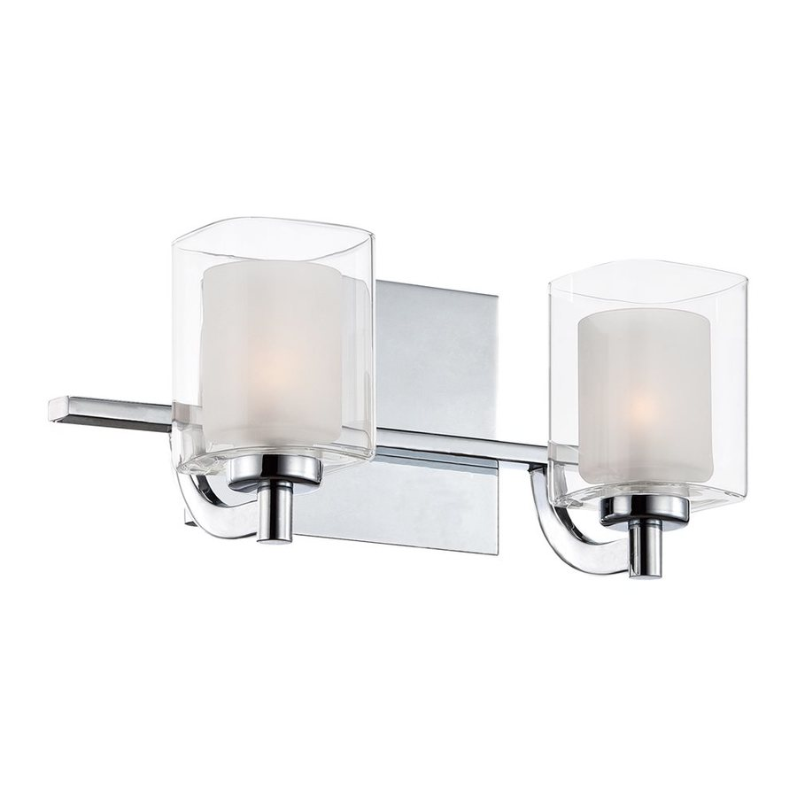 Shop quoizel kolt 2 light 6 in polished chrome cylinder for 6 light bathroom vanity light