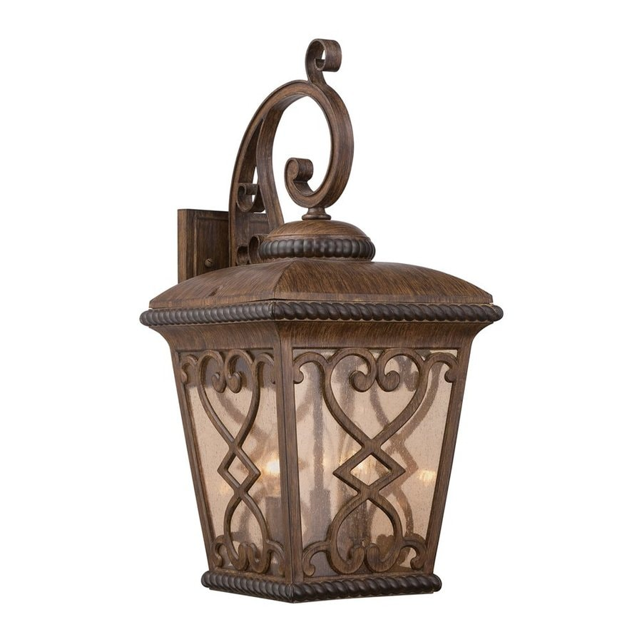 Quoizel Fort Quinn 23-in H Antique Brown Outdoor Wall Light