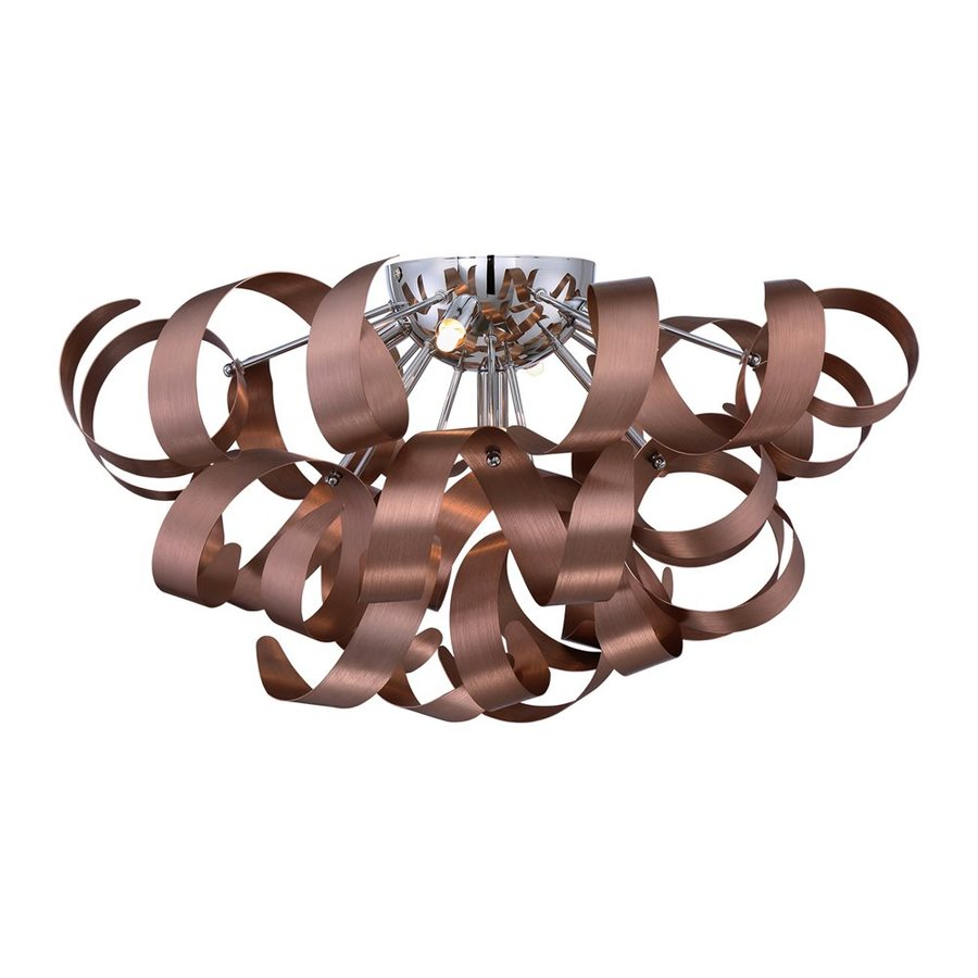 Quoizel Ribbons 22-in W Satin Copper Flush Mount Light