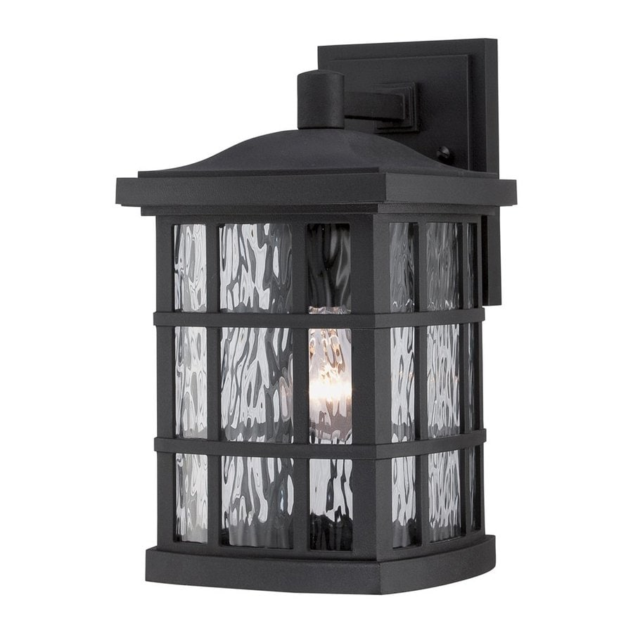 Quoizel Stonington 13-in H Mystic Black Outdoor Wall Light