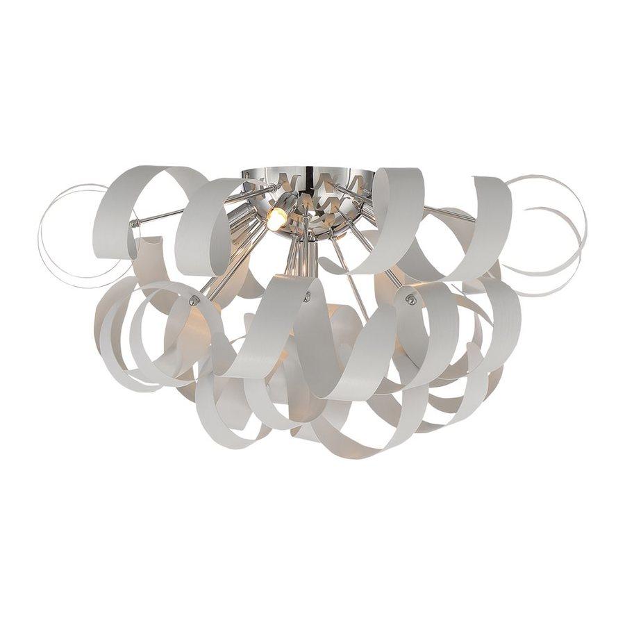 Quoizel Ribbons 22-in W White Lustre Flush Mount Light