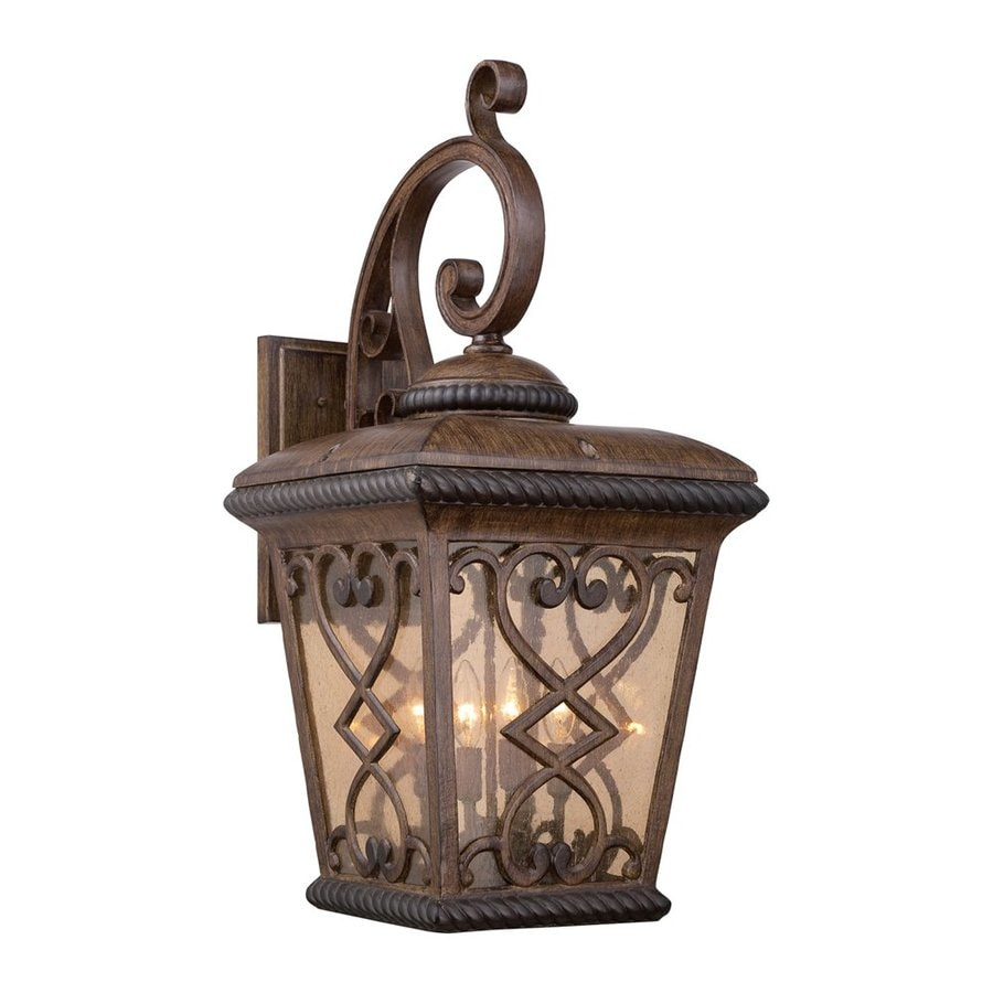Quoizel Fort Quinn 30-in H Antique Brown Outdoor Wall Light