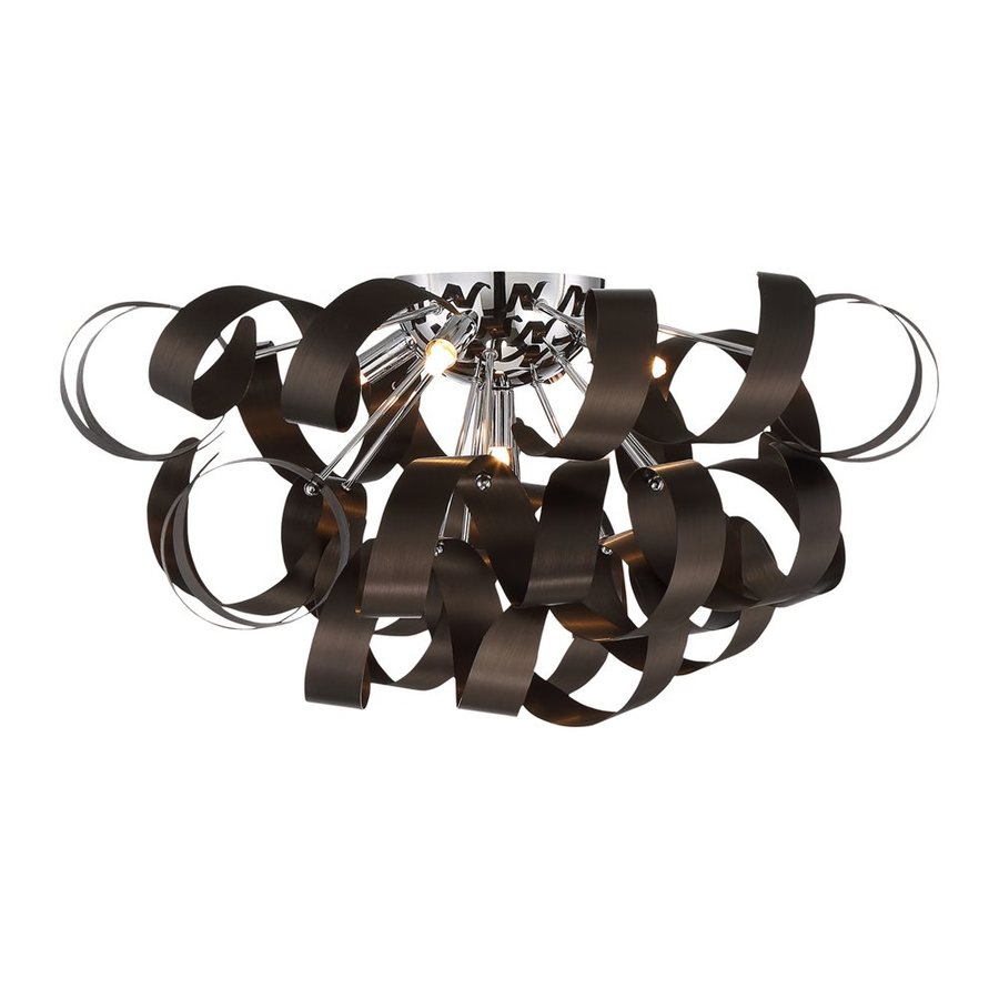 Quoizel Ribbons 22-in W Western Bronze Ceiling Flush Mount Light