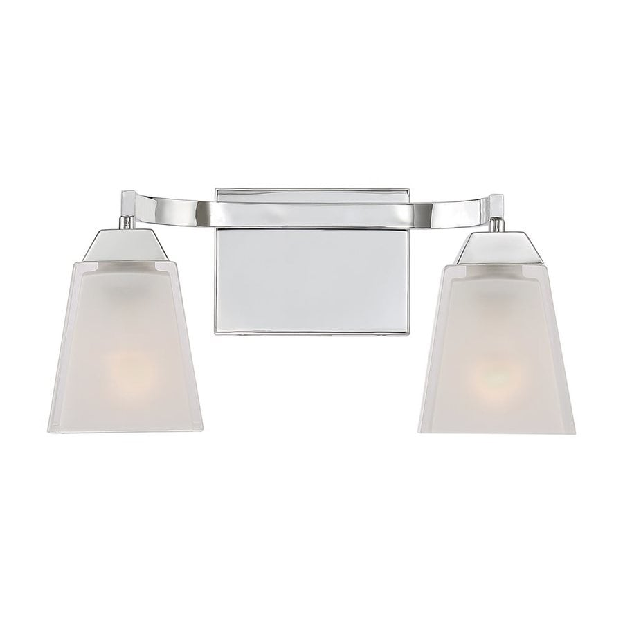 Quoizel Loft 2-Light 7.5-in Polished chrome Square Vanity Light