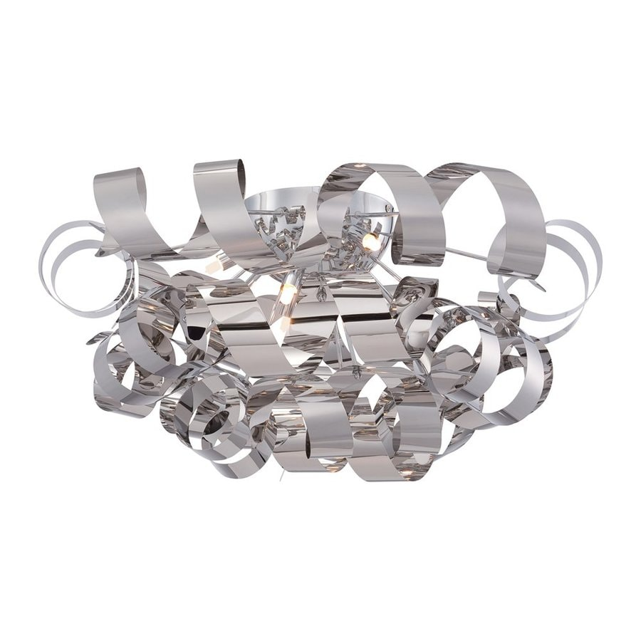 Quoizel Ribbons 27.5-in W Polished Chrome Flush Mount Light