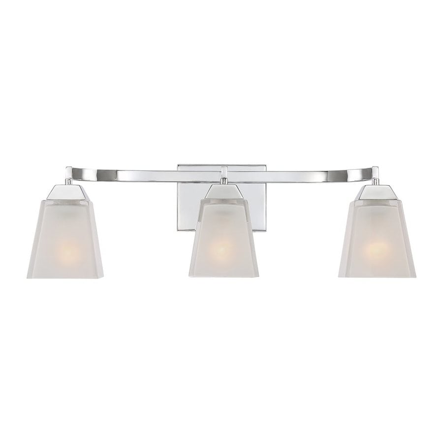 Shop Quoizel Loft 3 Light 24 In Polished Chrome Square Vanity Light At