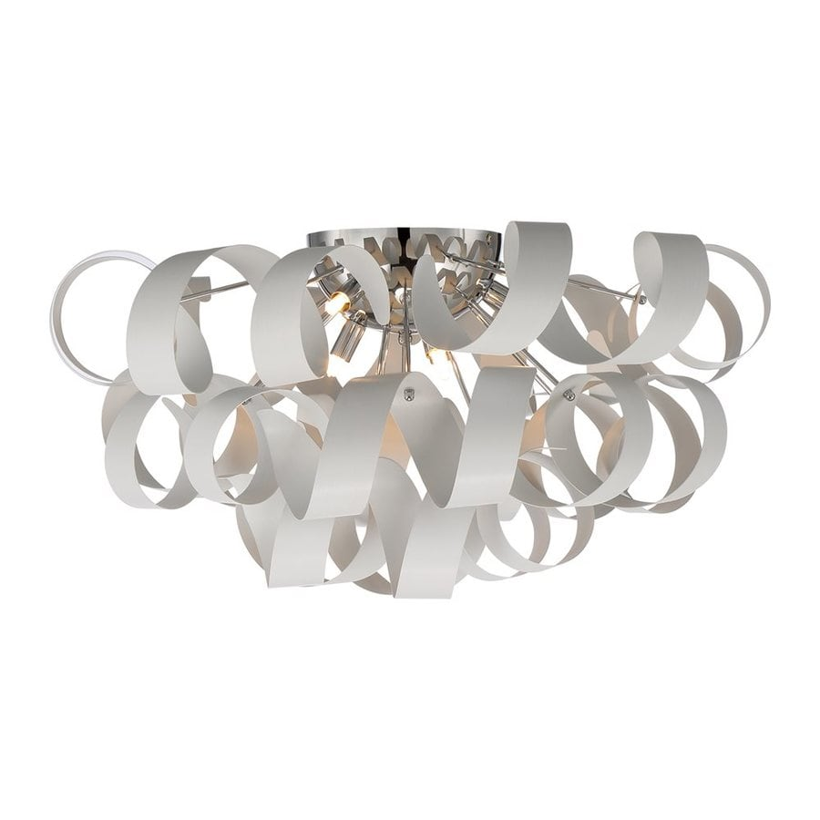 Quoizel Ribbons 27.5-in W White Lustre Ceiling Flush Mount Light