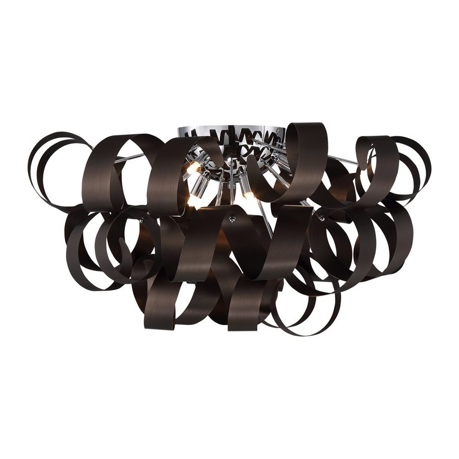 Quoizel Ribbons 27.5-in W Western Bronze Flush Mount Light