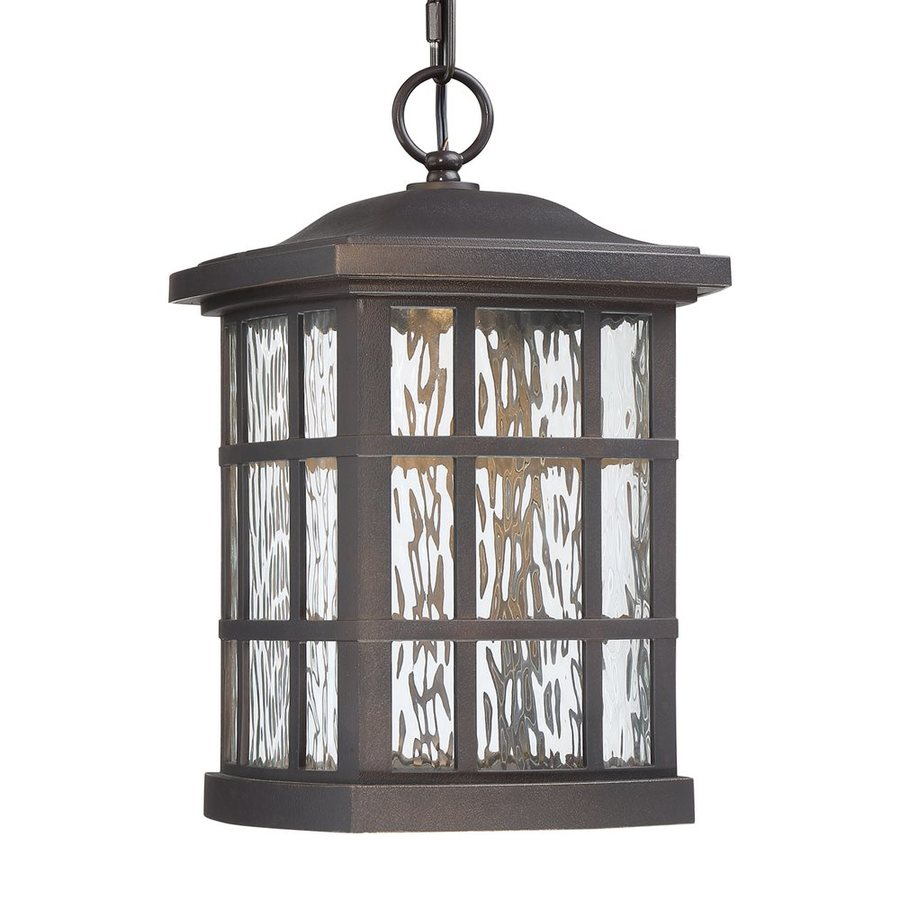 Quoizel Stonington 15-in Palladian Bronze Outdoor Pendant Light