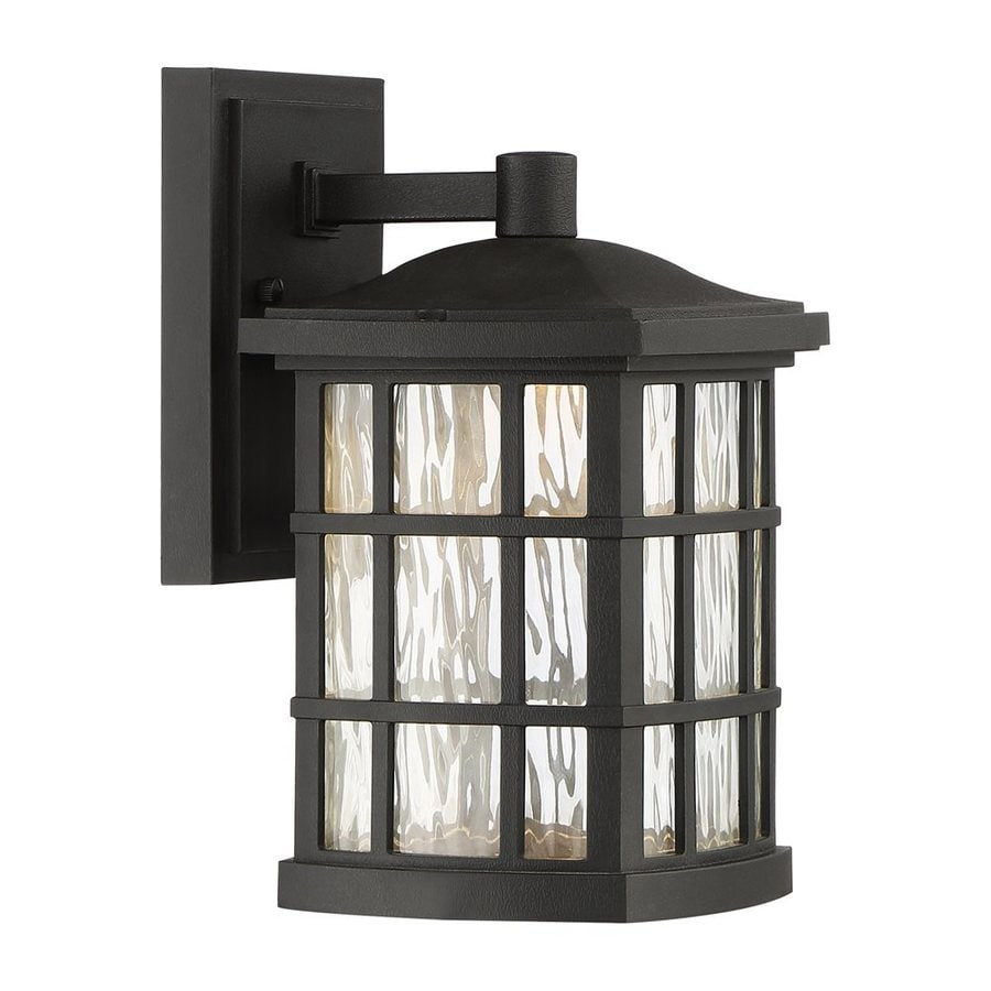 Quoizel Stonington Led 10.5-in H Led Mystic Black Outdoor Wall Light