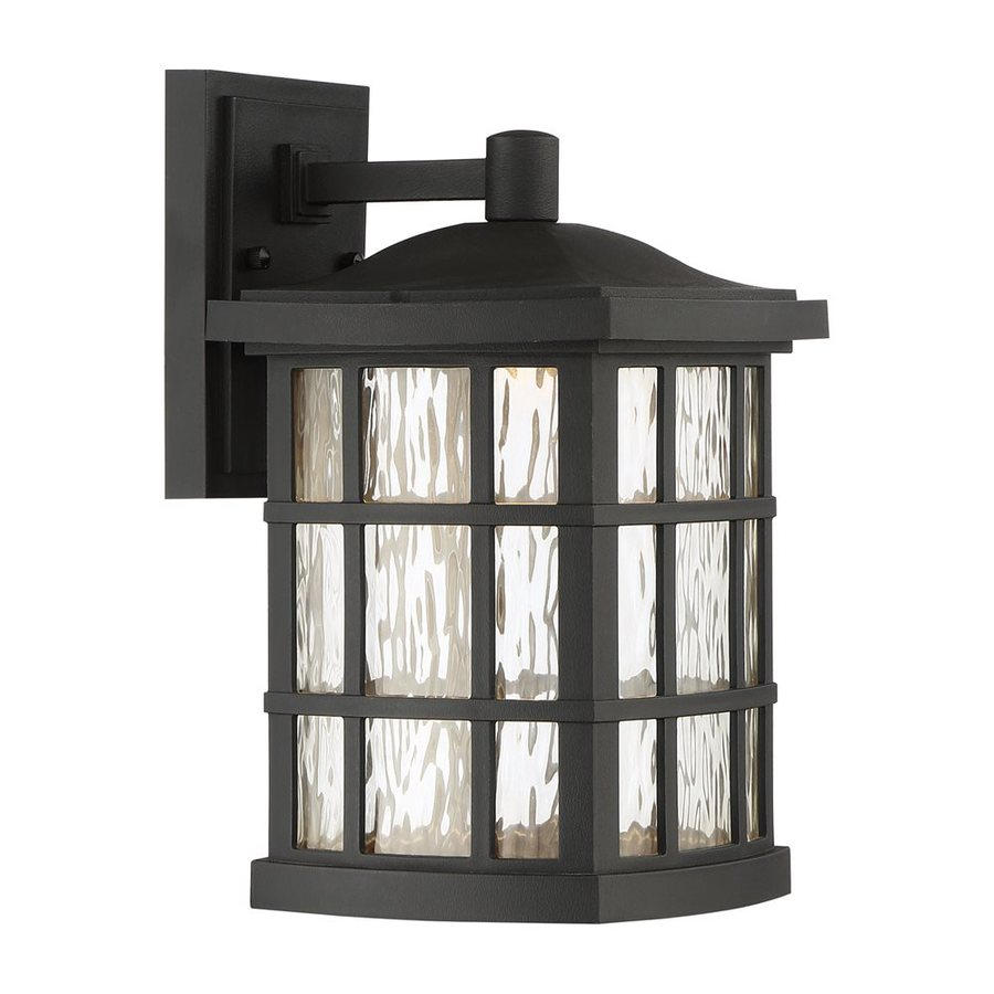 Shop quoizel stonington 13 in h mystic black led outdoor wall quoizel stonington 13 in h mystic black led outdoor wall light amipublicfo Image collections