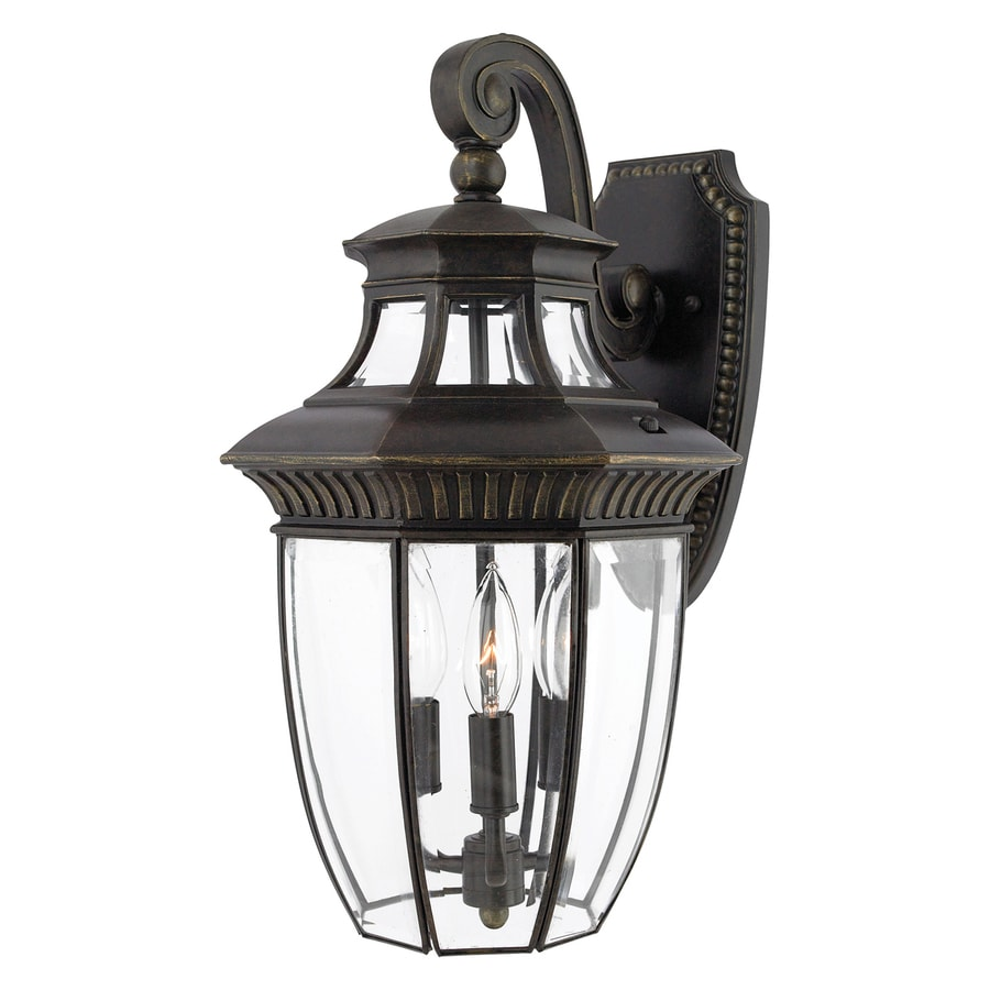 Quoizel Georgetown 18-in H Imperial Bronze Candelabra Base (E-12) Outdoor Wall Light