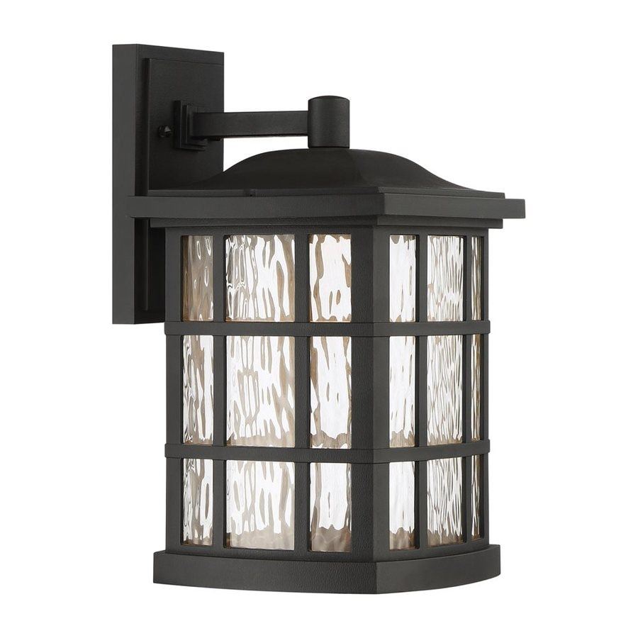 Quoizel Stonington Led 15.5-in H Led Mystic Black Outdoor Wall Light