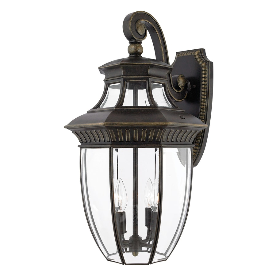 Quoizel Georgetown 24-in H Imperial Bronze Candelabra Base (E-12) Outdoor Wall Light