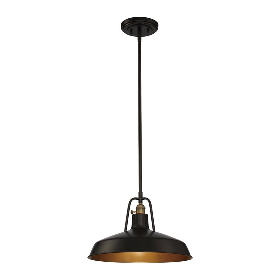 Quoizel Railway 15.5-in Imperial Bronze Barn Single Warehouse Pendant