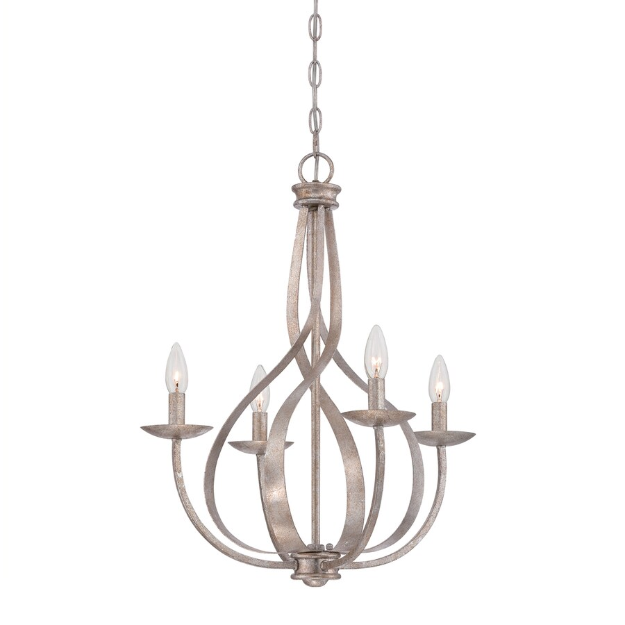Quoizel Serenity 20-in 4-Light Italian Fresco Candle Chandelier